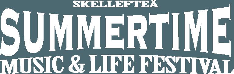 Skellefteå Summertime vit logo